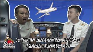 MANG SASWI MENDARATKAN AIRBUS A320 BERSAMA CAPTAIN VINCENT