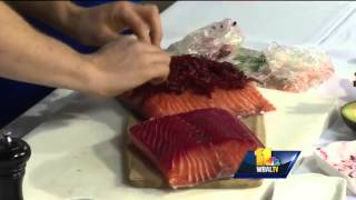 How to make beet-cured gravlax