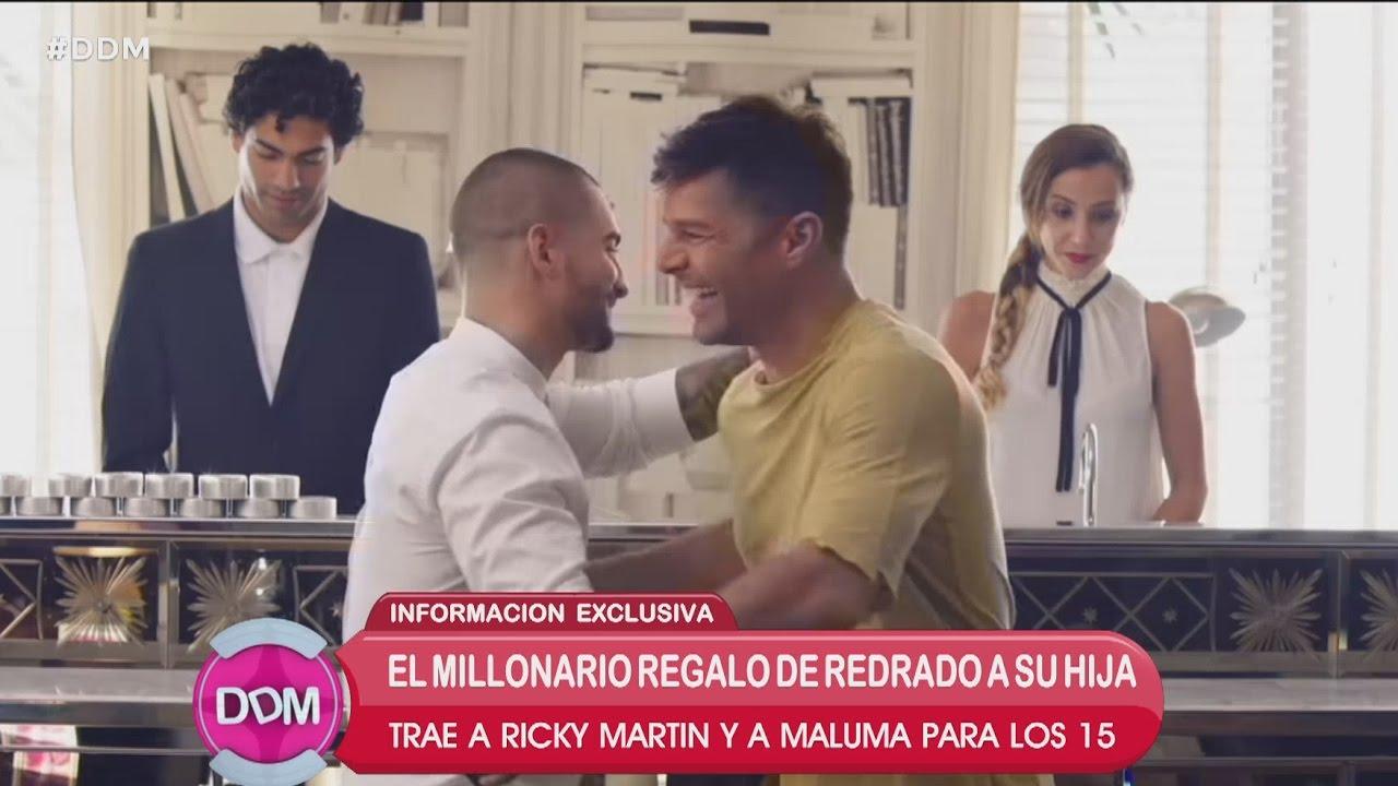 Ricky y Maluma en la fiesta de 15 de la hija de Redrado