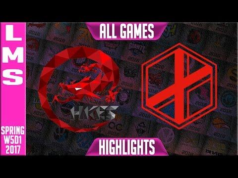 Hong Kong Esports vs eXtreme Gamers Highlights All Games - LMS W5D1 Spring 2017 HKE vs XG All Games
