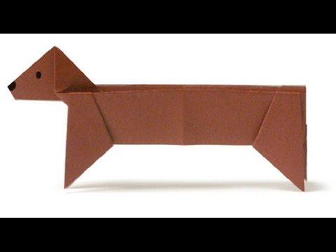 Origami Dachshund Youtube