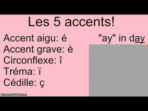 6th grade review #1: French alphabet and accents - YouTube