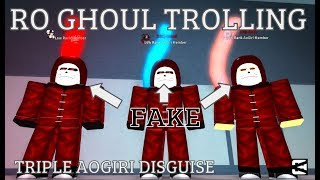 Roblox - Ro-Ghoul | TRIO AOGIRI DISGUISE TROLL | THANK YOU FOR 1700 SUBS!!! [Episode - 13]
