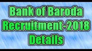 Bank of Baroda (BOB) Recruitment-2018 notification details