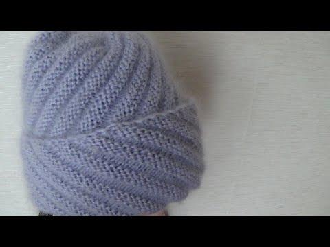 Вязанные шапки для солидных дам спицами со схемами и описанием