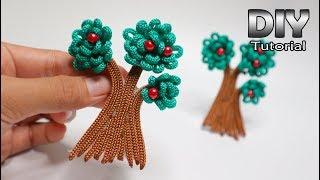 IDE KREATIF DIY - Membuat Bros Pohon dari TALI KUR (Rope Kur tree)   Sisa tali kur   Rope flower