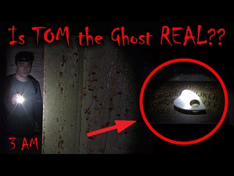 *SCARY* IS TOM THE GHOST REAL??? (OUIJA BOARD CHALLENGE IN TOMS HOUSE)