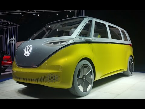 Volkswagen Id Buzz Concept First Look 2017 Detroit Auto Show Youtube
