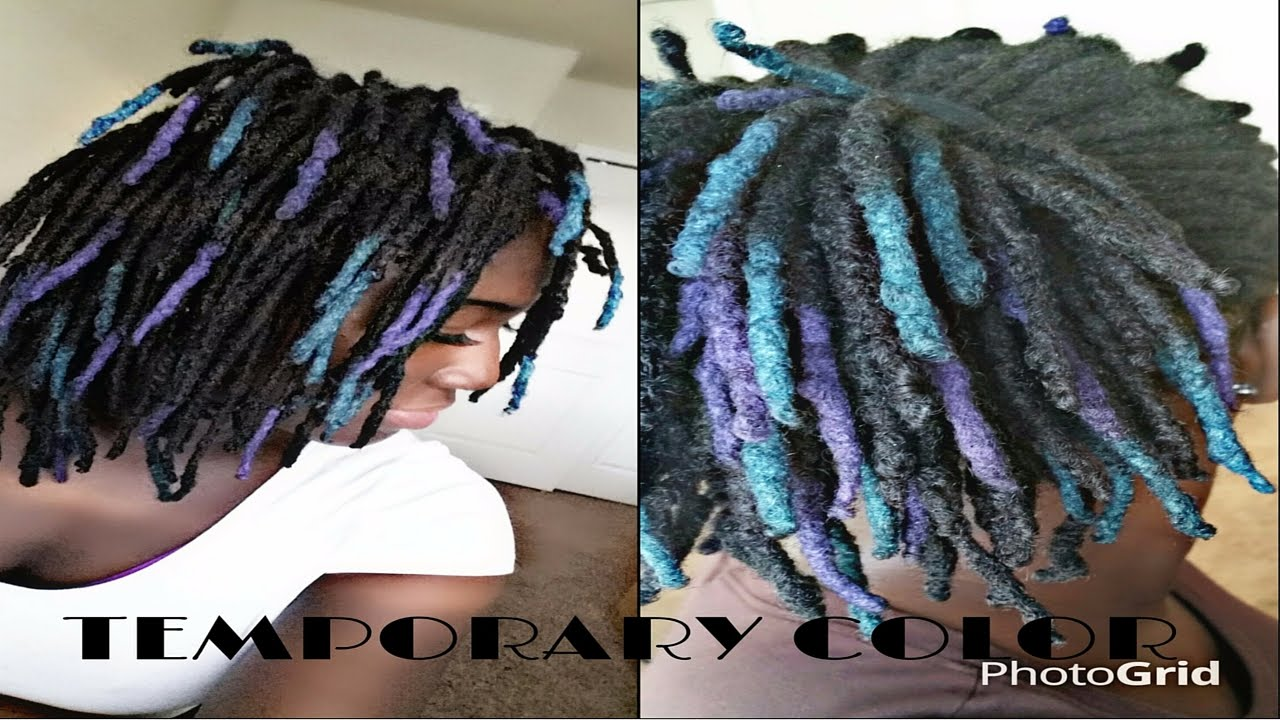 How To Color Locs w/o Bleach & Chemicals | Loc Shadowing - YouTube