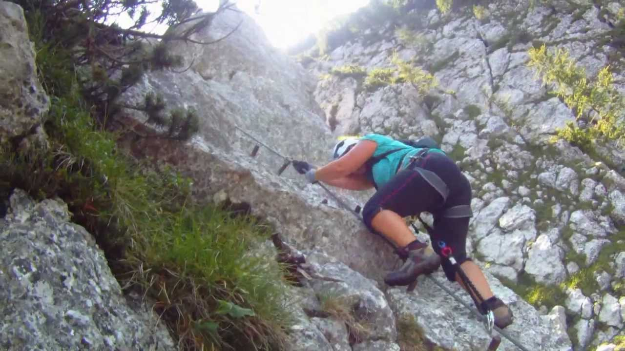 Klettersteig Katrin : Katrin klettersteig in bad ischl youtube