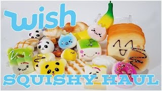 Wish App Squishy Haul and Review!