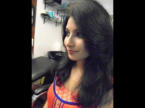 Actress Mansi Getting Haircut