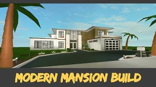Modern Mansion [Speed Build] [Roblox Bloxburg]
