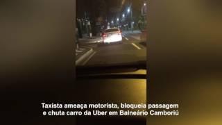 Taxistas armam emboscada para motorista da Uber em Balneário Camboriú
