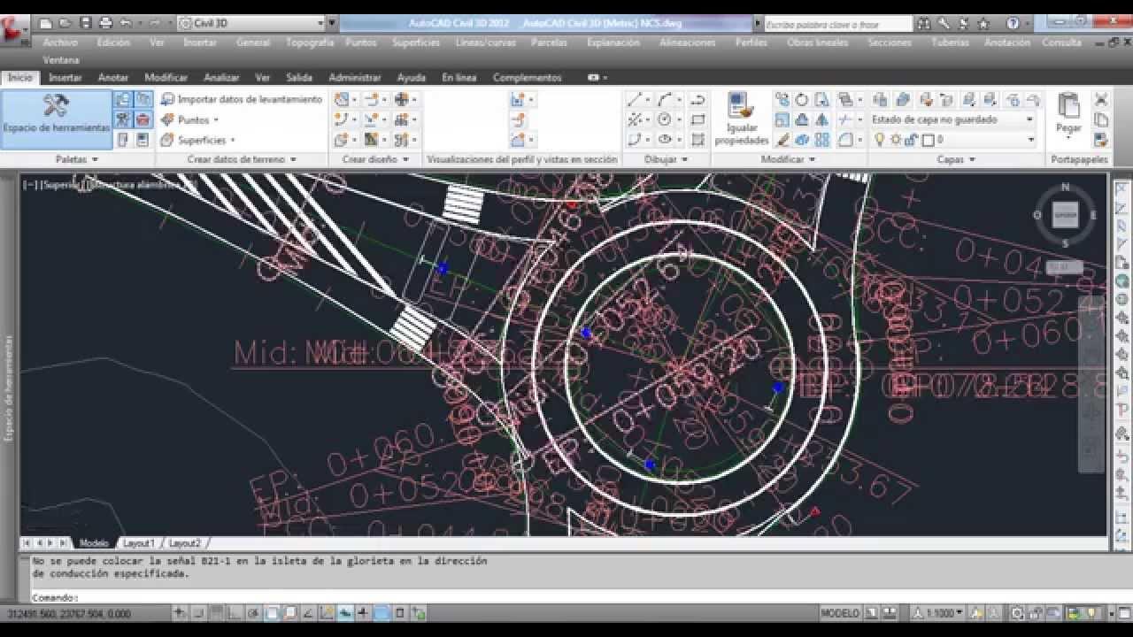 Glorieta y Corredores AutoCAD Civil 3D 2012 - YouTube
