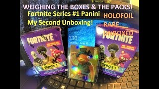 Fortnite trading cards 2nd unboxing got a holofoil !