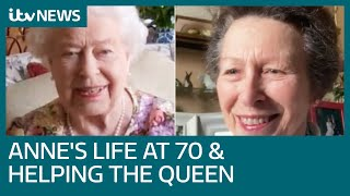 Princess Anne on life at 70 and helping the Queen get to grips with calls during lockdown | ITV News