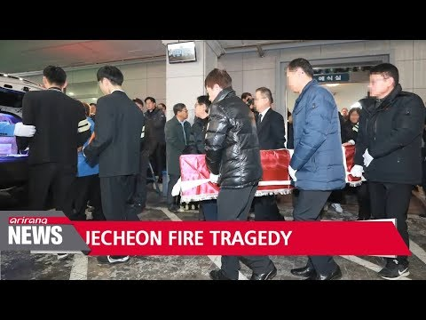 Burials for the victims of the Jecheon fire disaster to continue past Christmas