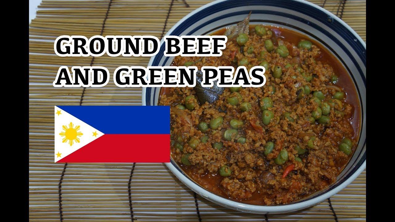Ground Beef & Green Peas Recipe Tagalog Pinoy Filipino ...