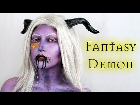 FANTASY DEMON Halloween Makeup Tutorial