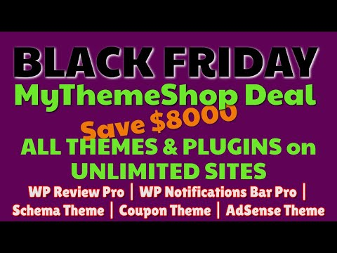 MyThemeShop Black Friday 2019 Discunts + Deal | Premium Themes & Plugins | Pro Plugins thumbnail