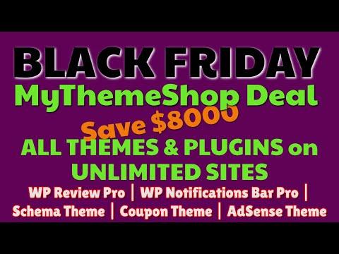 MyThemeShop Black Friday 2019 Discunts + Deal | Premium Themes & Plugins | Pro Plugins thumbnail