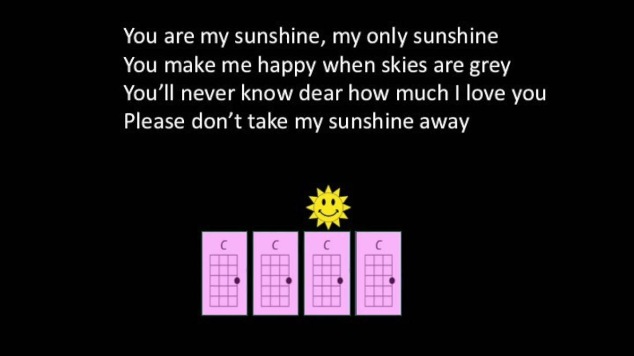 You are my sunshine uke play along for young children youtube you are my sunshine uke play along for young children hexwebz Image collections