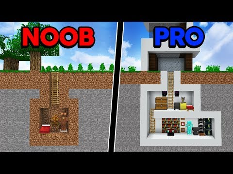 Batalha de Construção: CASA SUBTERRÂNEA DE NOOB VS CASA SUBTERRÂNEA DE PRO!
