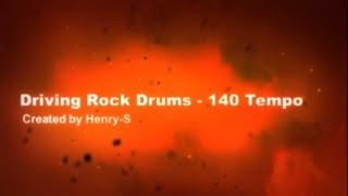 Driving Rock Drums - Tempo 140