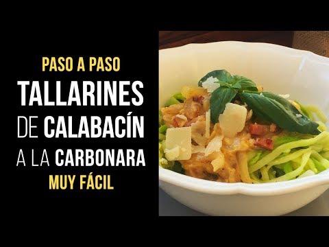 Tallarines de Calabacín a la Carbonara