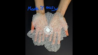 How to make a paper flower tutorial paper crafts DIY Tutorial by  step by step