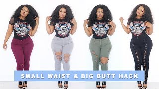 Plus Size   Fashion Nova Jean Guide For Small Waist & Big Butt HACK   Edee Beau