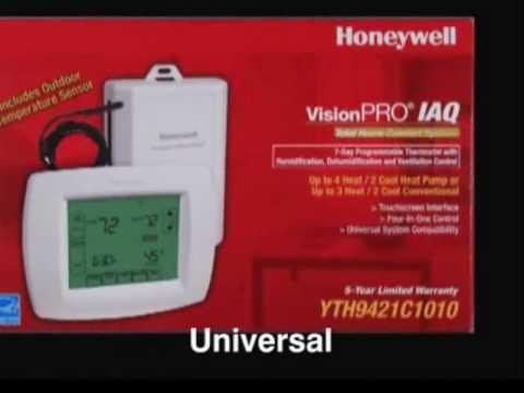 Honeywell VisionPRO IAQ - YouTube