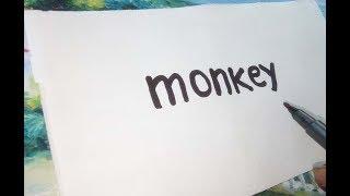 Very Easy! How to Turn Word Monkey into a Cartoon - Cartoon For Kids
