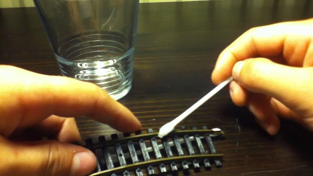 Nettoyer les rails entretien train miniature youtube - Nettoyer plaque electrique rouille ...