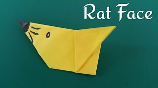 "How to do a super easy paper ""🐀Mouse / Rat 🐁 face"" - Origami for Beginners"