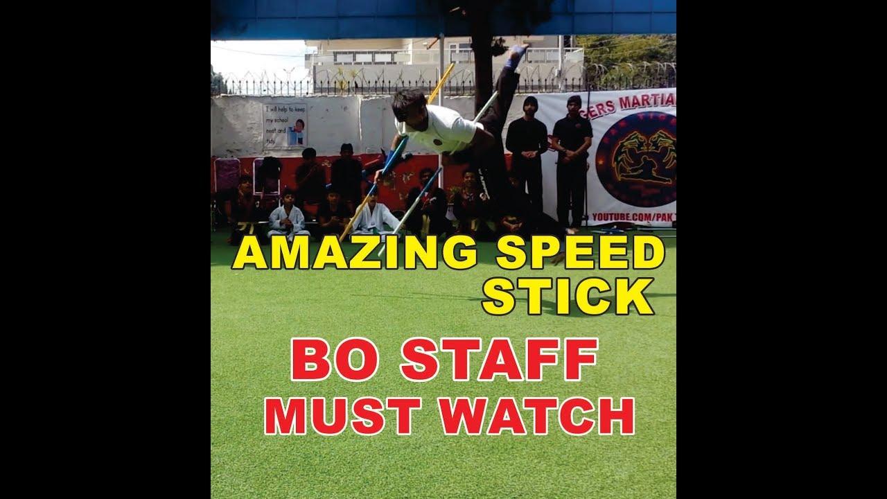 Bo Staff,( stick ) awesome speed by Raja Tayyab (pak tigers)