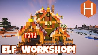 "Elf Workshop ""Elf Toys"" Christmas Village Part 2 Minecraft Tutorial"