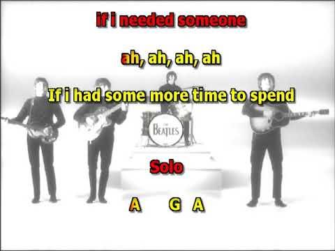 If I needed someone Beatles mizo vocals no lead guitar lyrics chords