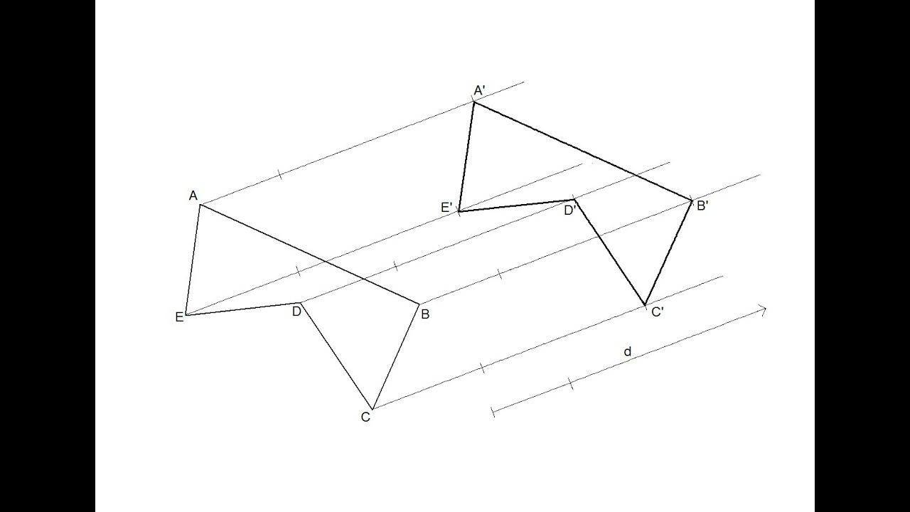 Traslación de una figura (Transformaciones geométricas: Igualdad ...