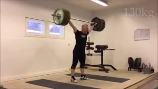 Milko Tokola snatch 130kgx3x3