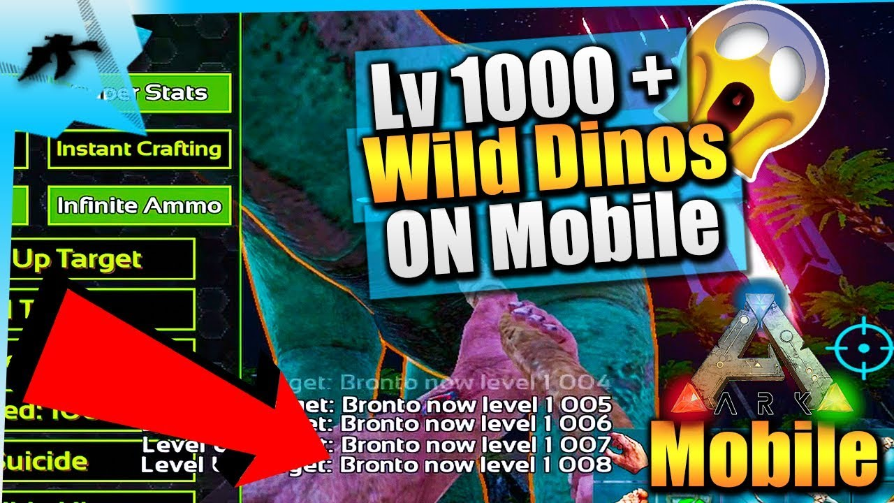 Ark iOS God Console Update LIVE| Level 1000+ Wild Dinos In Single player|  Infinite Stats |Ark Mobile