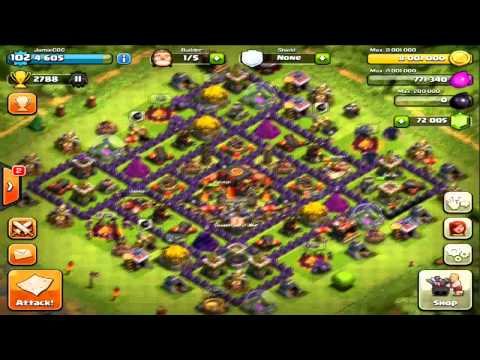 Clash of Clans - Maxing Out Base.. 120,000 Gems!! Ultimate Gem Video!