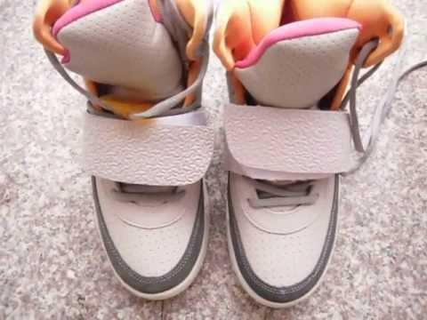 68319c1c4 Nike Air Yeezy Zen Grey vs Pure Platinum - YouTube
