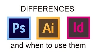 Differences between Adobe Photoshop Illustrator and InDesign - When to use Adobe software