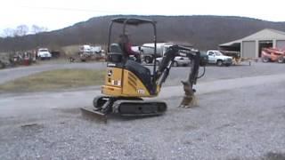 2010 john deere 17d mini excavator dozer backhoe only 416 hours for sale