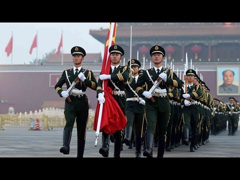 China's flag-raising ceremony on National Day