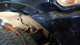 Mitsubishi Pajero Sport ремонт крыла переднего правого