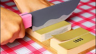 Growing toy knife | stop motion cooking