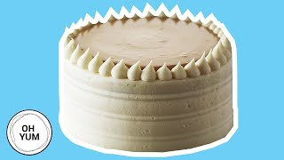 Classic Vanilla Birthday Cake with Caramel Pastry Cream | Oh Yum With Anna Olson